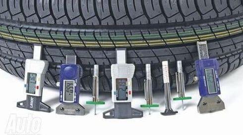 высота протектора шины